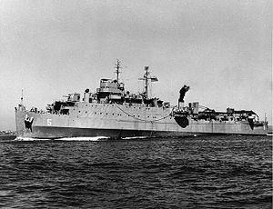 USS Gunston Hall (LSD-5) c. the late 1940s.