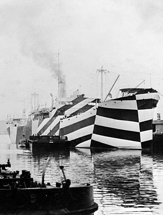 Dazzle camouflage - Image: USS West Mahomet (ID 3681) cropped