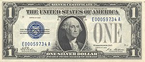 First small-sized $1 bill which was issued in ...