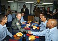 US Navy 030213-N-0874H-004 Presiden Bush has lunch with Sailors aboard USS Philippine Sea.jpg