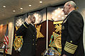 US Navy 050202-N-2383B-056 Chief of Naval Operations (CNO), Adm. Vern Clark, administers the Oath of Office to former Chief Information Systems Technician Malcom S. Simien.jpg