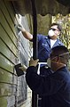 US Navy 050516-N-7027P-003 Sailors assigned to the Military Sealift Command (MSC) hospital ship USNS Mercy (T-AH 19) participate in a community relations project to renovate various buildings at the Modilon General Hospital.jpg