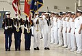 US Navy 070416-N-3398B-043 Marine Corps Air Facility Color Guard parades the colors during a Patrol Squadron (VP) 47 change of command ceremony.jpg