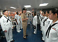 US Navy 070531-N-8146B-004 Commander, U.S. Fleet Forces Command, Adm. Gary Roughead thanks Sailors for their service during his visit to amphibious assault ship USS Boxer (LHD 4).jpg