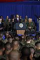 US Navy 090227-M-7752D-002 U.S. President Barack Obama delivers remarks to service members and civilians during a visit to U.S. Marine Corps Base Camp Lejeune.jpg