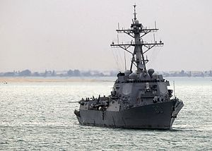 USS Roosevelt (DDG-80) underway in March 2004.