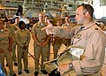US Navy 090608-N-5528G-012 Lt. Zach Zuroweste gives midshipmen a tour of the hangar bay of the VFA-87.jpg