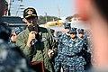 US Navy 110405-N-WW409-231 Vice Adm. Scott Van Buskirk, commander of U.S. 7th Fleet, speaks with Sailors aboard the guided-missile destroyer USS Fi.jpg