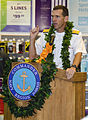 US Navy 110929-N-RI844-003 Rear Adm. Dixon R. Smith, commander of Navy Region Hawaii, delivers remarks during a domestic violence awareness event i.jpg
