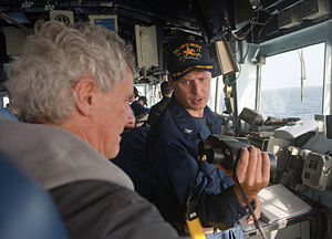US Navy 120214-N-VY256-010 Capt. Don Gabrielson, commanding officer of the Ticonderoga-class guided-missile cruiser USS Cape St. George (CG 71), sh.jpg