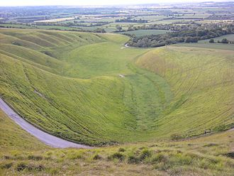 Uffington White Horse - The Manger viewed from the White Horse