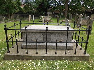 Ugo Foscolo - Memorial in St Nicholas Church, Chiswick