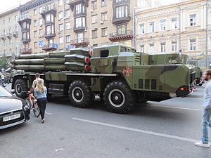 Ukrainian Ground Forces - Ukrainian BM-30 Smerch heavy multiple rocket launchers on parade in Kiev
