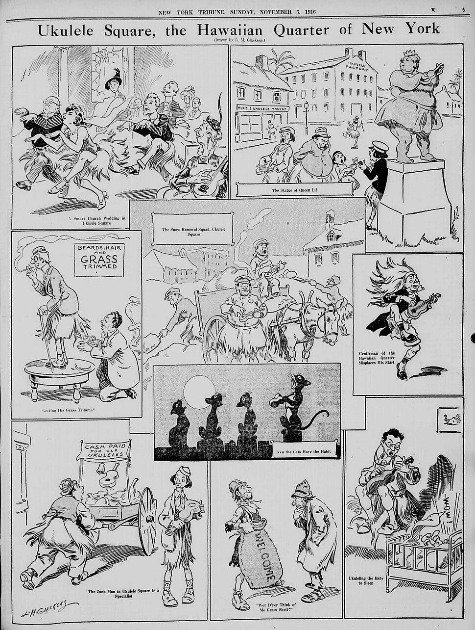 Ukulele Craze 1916 Glackens