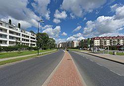 Ulica Stryjeńskich w Warszawie 2016
