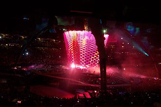 """The Unforgettable Fire (song) - Lighting and video effects for the performance of """"The Unforgettable Fire"""" on the U2 360° Tour"""