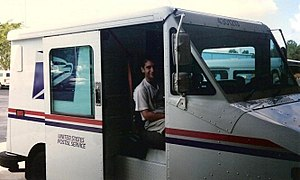 Rural letter carrier - A rural letter carrier from Fort Myers, Florida in 2006