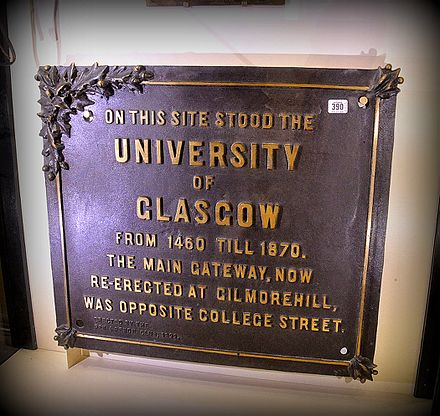 University of Glasgow, Older Building Sign University of Glasgow, Older Building Sign.JPG