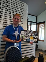 User Vigneron at pre-conference of Wikimania 2019 in Stockholm.jpg