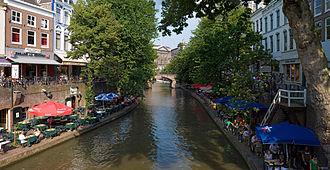 Utrecht - Oudegracht (the 'old canal') in central Utrecht