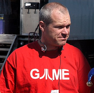Uwe Boll - Boll on the set of Dungeon Siege, at the studios in Vancouver, in 2005