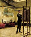 Vágó Self-portrait in the Studio 1880s.jpg