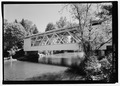 VIEW DUE EAST - Larwood Bridge, Spanning Crabtree Creek, Fish Hatchery Road (CR 648), Lacomb, Linn County, OR HAER OR-124-21.tif