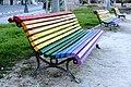 Valencia - Rainbow Parkbench.jpg