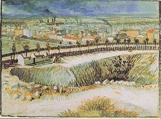 Outskirts of Paris (Van Gogh) - Image: Van Gogh Am Stadtrand von Paris nahe Montmartre