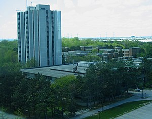 Vanier College at York University - A View of Vanier College and Residence from the York Research Tower