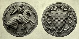John de Warenne, 6th Earl of Surrey - Warenne's seal, circa 1300, from Barons' Letter, 1301