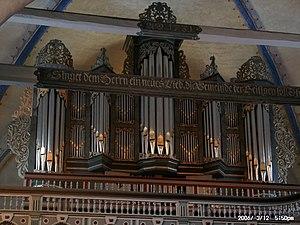 Christian Vater - Image: Vater Orgel Wiefelstede