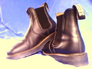 Chelsea boot - Chelsea boots constructed from imitation leather