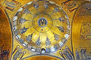 The Pentecost Mosaic, in the center is the dov...