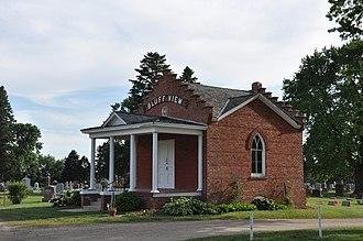 National Register of Historic Places listings in Clay County, South Dakota - Image: Vermilion SD Bluff View Cemetery Chapel