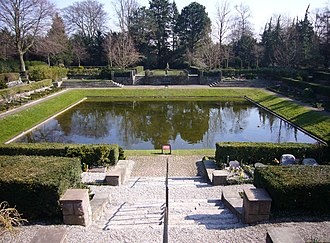 Vestre Cemetery (Copenhagen) - One of the cemetery's two lakes