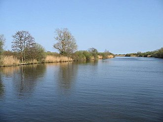 Bure Broads and Marshes - Image: View along the River Bure near Ranworth Dam geograph.org.uk 402624