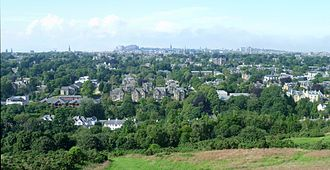 Blackford, Edinburgh - View from Blackford Hill, looking north towards Edinburgh.