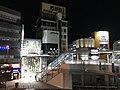 View in front of Kurosaki Station at night.jpg