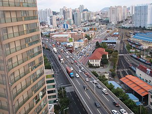 Busanjin District - Image: View of Busanjin District