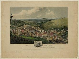 Pottsville, Pennsylvania - View of Pottsville, Pennsylvania by John Rowson Smith