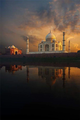 View of Taj Mahal Across River, Agra.png