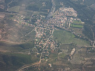 Aureille - Aerial view of Aureille.