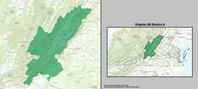 Virginia's 6th congressional district - since January 3, 2013.
