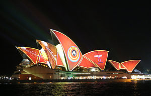 Projection mapping - The Sydney Opera House during the 2013 Vivid Sydney projection display