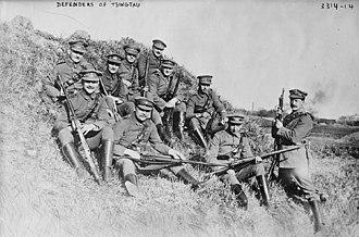 Shanghai Volunteer Corps - Volunteers from the German Prinz Heinrich Kompagnie of the SVC in Tsingtao, 1914.