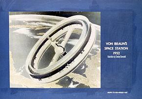 Vue d'un projet de station orbitale de 1952.
