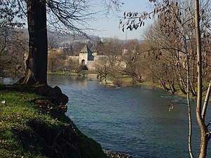 Banja Luka - Kastel fortress and Vrbas river.