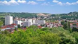 Vue sur le centre de Cusset depuis Montbeton.jpg