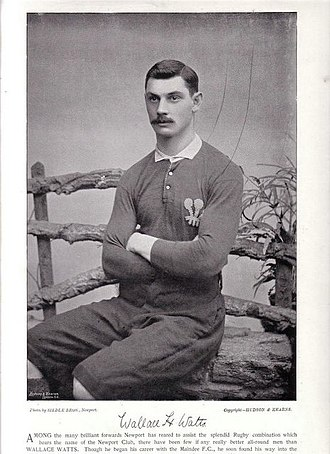 Wallace Watts - Watts in Wales jersey